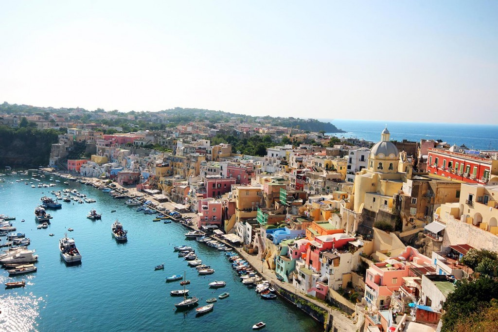 Italian islands - Capri, Ischia and Procida, Colourful houses in Procida