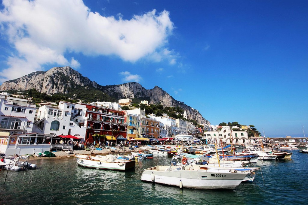 Italian islands - Capri, Ischia and Procida, Marina Grande in Capri