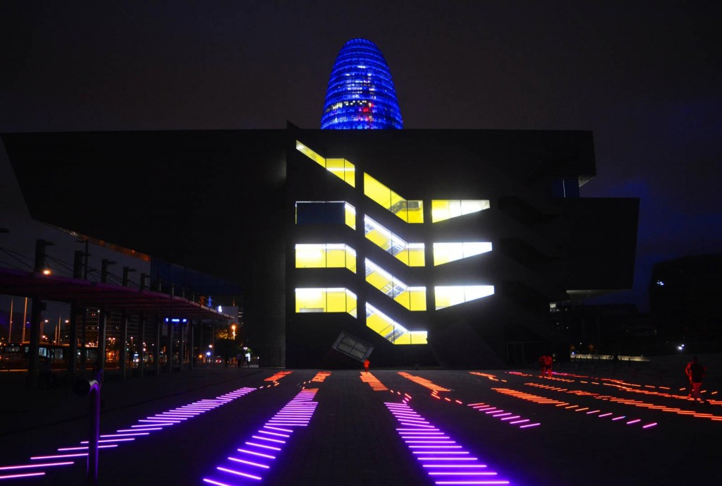Пеещите светлини, Музея по дизайн, Барселона