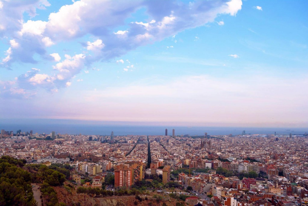 Гледка от бункерите на Кармел, Барселона