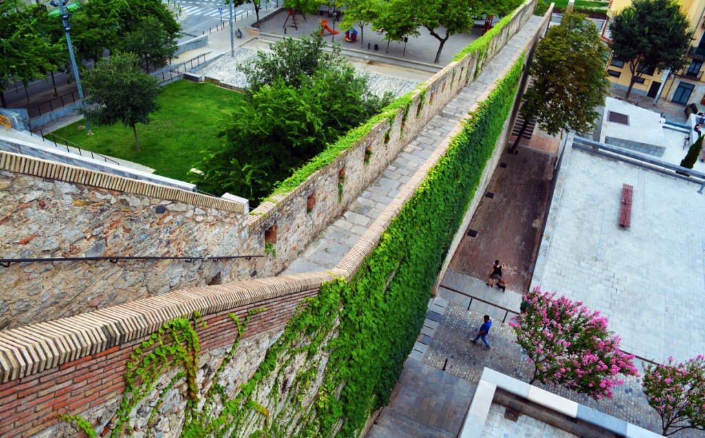 The castle wall, Girona