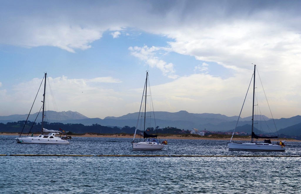 Cantabrian sea, view from the Sailing school in Santander