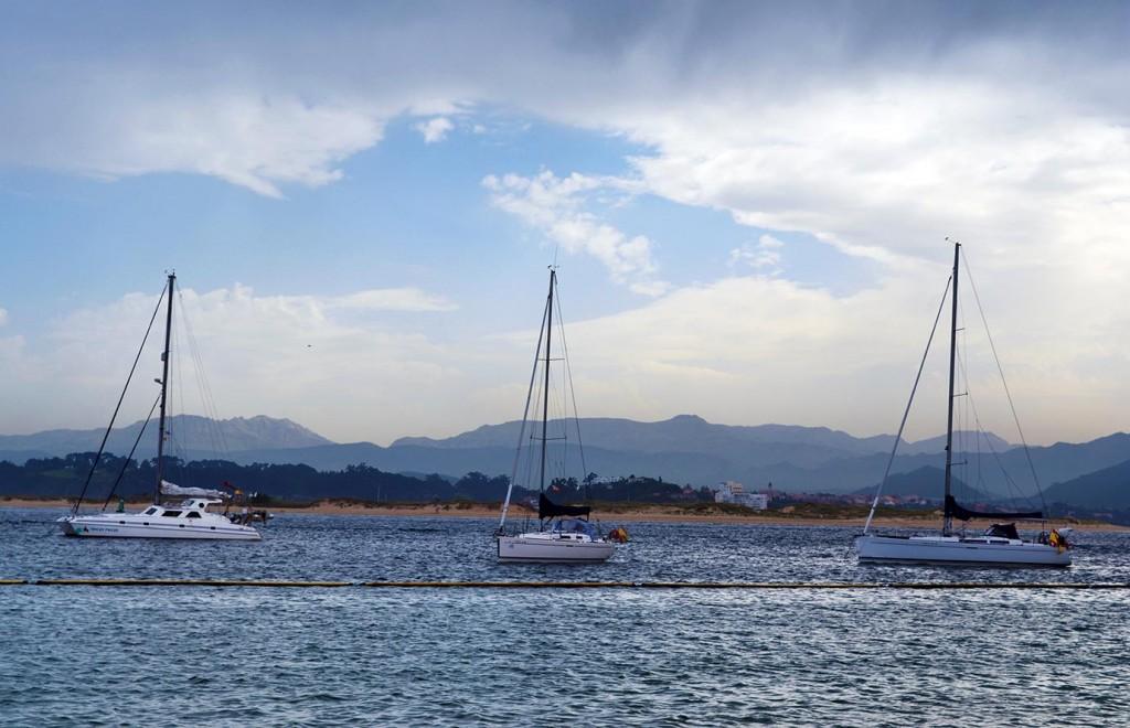 Кантабрийско море, гледка от Морското училище в Сантандер, Кантабрия, Испания