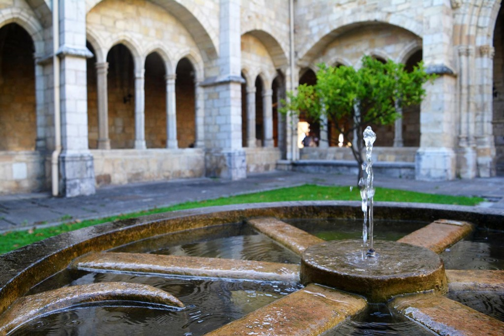 The inner courtyard of the cathedral in Santander, Spain