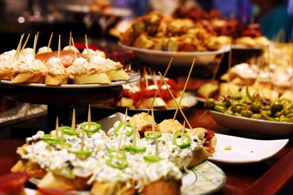 Pintxos (pinchos, tapas) in the Basque country, Spanish cuisine