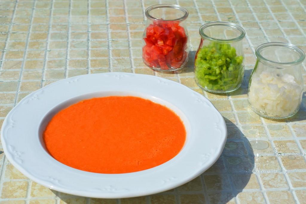 Gazpacho (tomato soup) in Andalucia, Spanish cuisine