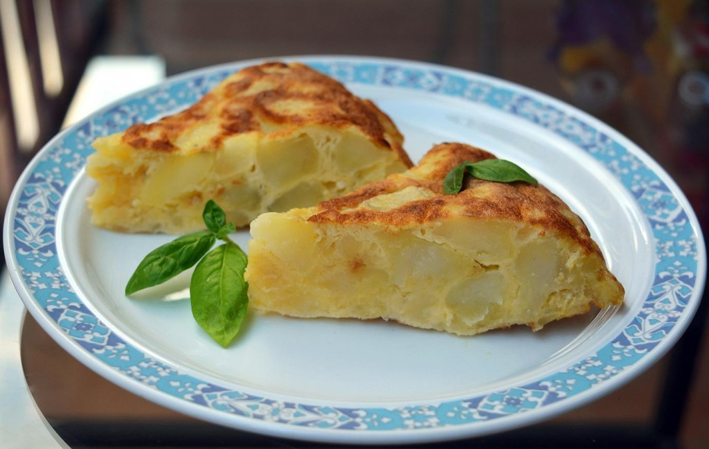 Tortilla (Spanish omelette) in Pamplona, Spanish cuisine