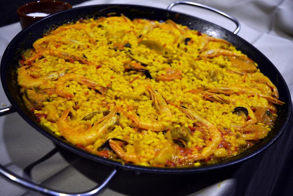 Paella in Valencia, Spanish cuisine