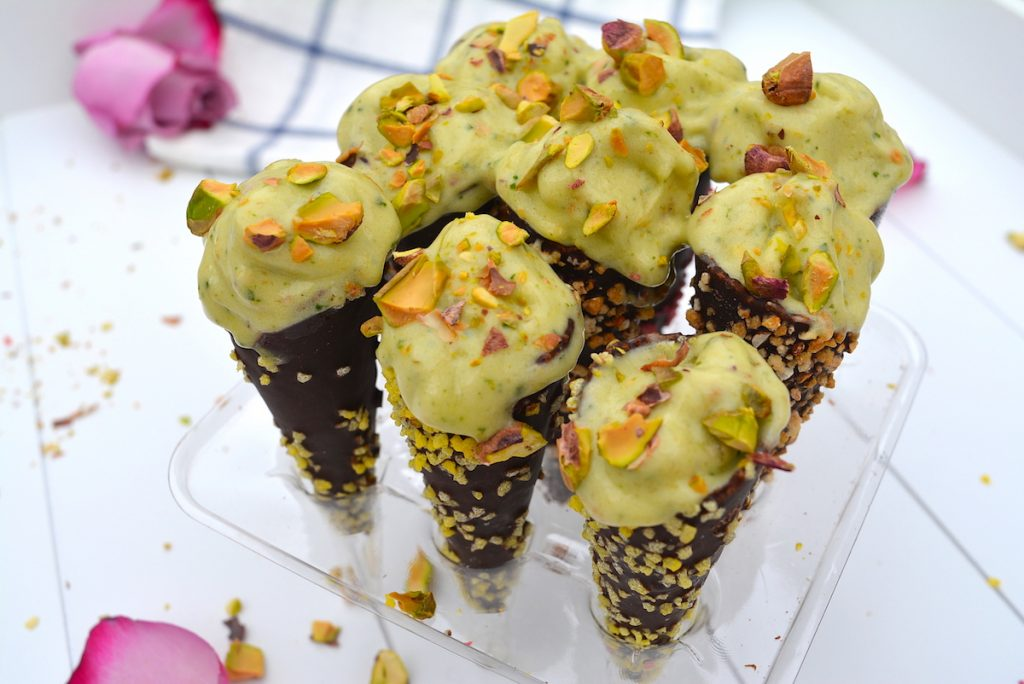 Dairy-free pistachio ice-cream