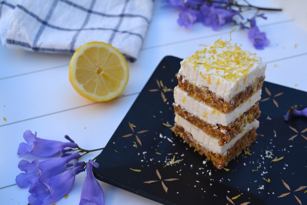 Vegan Lemon Coconut Slices