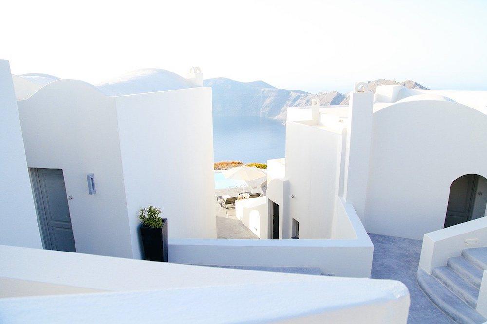 Santorini, white houses